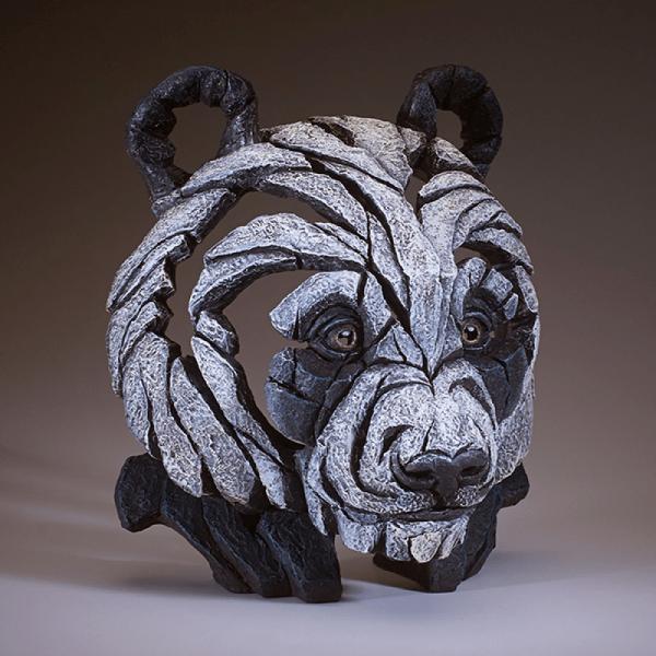 Edge Bust Panda Sculpture