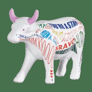 Bravismoo - Cow Parade Medium Sculpture (Ceramic)