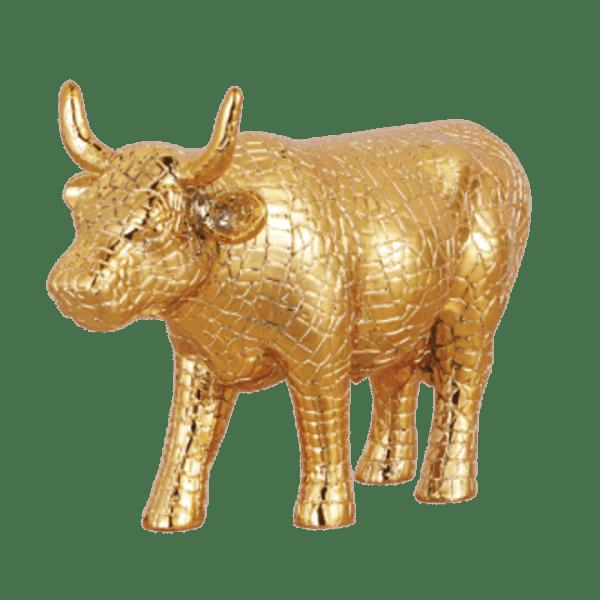 Mira Moo Gold - Cow Parade Medium Sculpture (Resin)