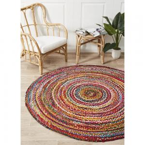 Atrium Chindi Multicolour Round Rug