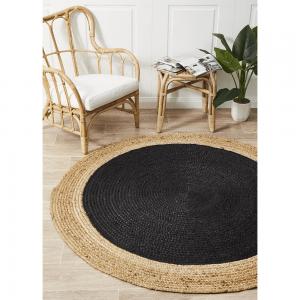 Atrium Polo Black Round Rug