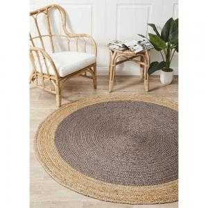Atrium Polo Charcoal Round Rug