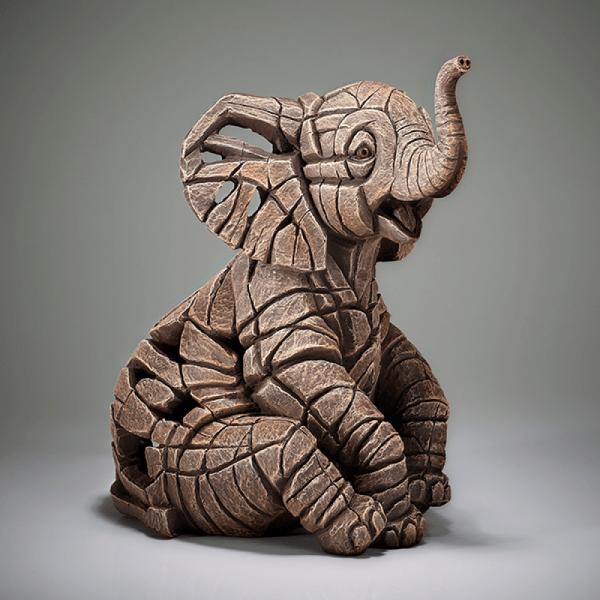 Elephant Calf Figure - Small   Edge Sculptures