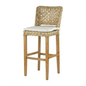 Coolum Rattan Bar Stool With Cushion