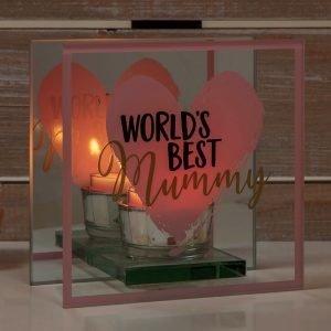 World's Best Mummy Glass Tealight Holder | Mothers Day