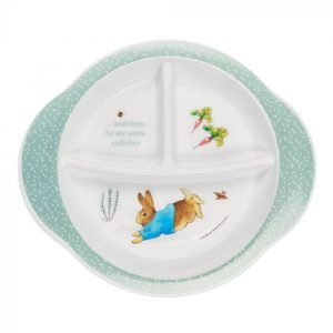 Peter Rabbit Section Plate with Suction | Beatrix Potter