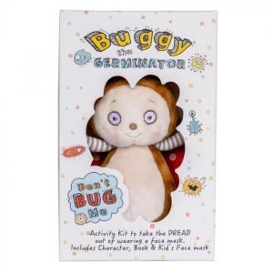 Buggy the Germinator Plush, Book and Face Mask Gift Set