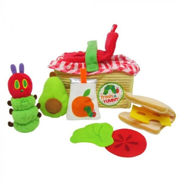 The Very Hungry Caterpillar Picnic Basket   Activity Toy   7PC Plush Playset