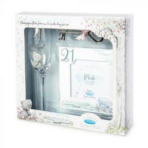 21st Gift Set | Flute | Frame and Keepsake Key