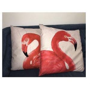 Pink Flamingo Cushions | Set Of 2